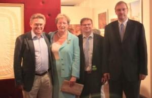 013. Kulturattache A.A. Lopuschinskij, Frau v. Rintelin, Dr. Tchernodarov, Herr Suhr