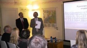 Herr Prof. Bagno in Potsdam erzählt über Puschkins Haus in Spb.