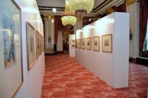 (c)Bild - Eduard Osechkin- Ausstellung -Ein Teil der Ausstellung ist der Karikatur des 19. Jhs gewidmet