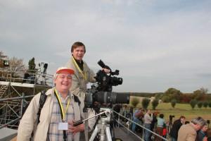 Dreharbeiten in Leipzig, Kameramann Kyrill Kraschenninikov und Filmproduzent  Alexander Mirolubov