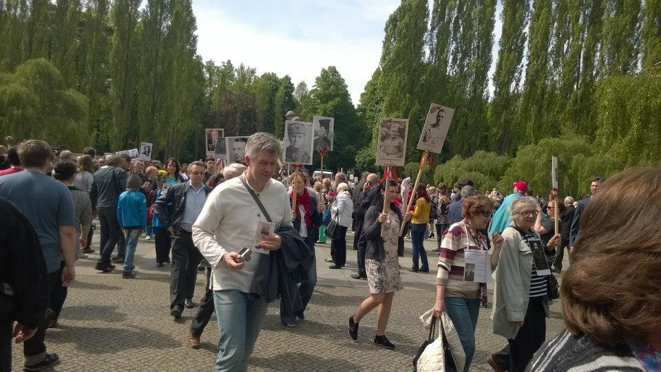 Marsch des unsterblichen Regiments in Berlin