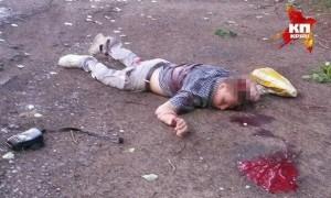 Toter Junge bei Slavjansk - Getötet durch ukrainisches Militär. Bild: Lügenrepublik: Ein Blog im Dschungel der Lügen von Politik & Medien