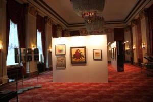 Ausstellung Das russische Kulturleben im Berlin der 1920er Jahre. Wappensaal.