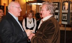 Fedaseev beim Besuch der Ausstellung