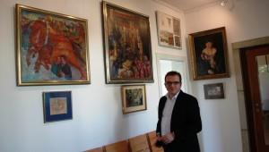 Alexej Germanowitch vor der Eröffnung
