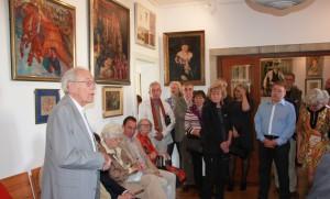 der Kabinettausstellung im Kunsthaus-Sagrekow am 3.10.15 DER FEUERVOGEL DES GEORG S